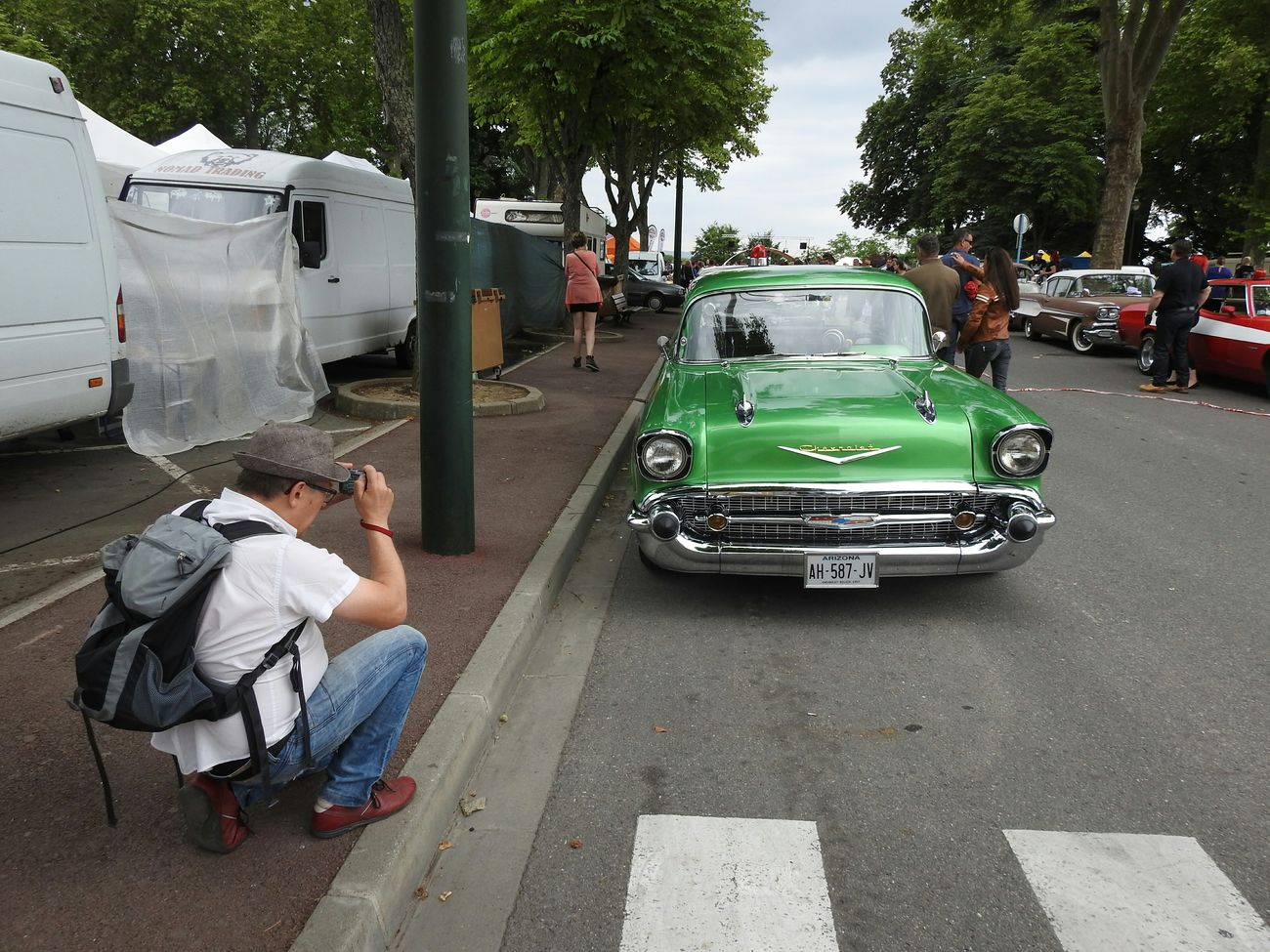 Photographing Photographers Rock And Cars Festival Cadillac Cars Old Car Lavaur