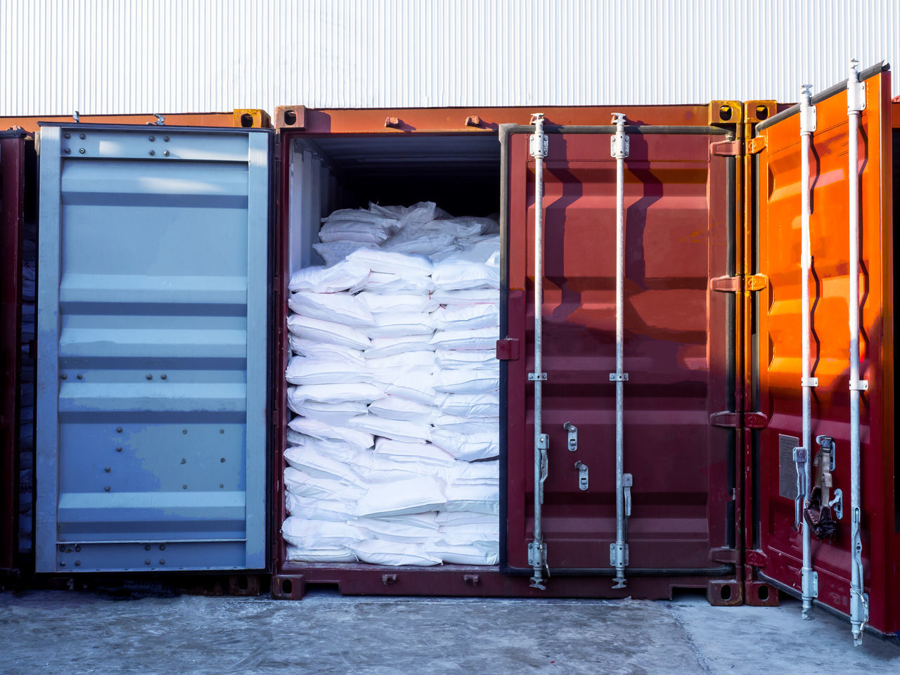 Sugar in bags to stuffing in container No People Stack Day Indoors  Custom Delivery Clean Shipping  Shipping  Shipping  Shipping  Shipping  Freight Transportation Crane Indoors  Indoors  Cargo Container Port Discharging Manufacturing Equipment Lifting Indoors  Shipping  Shipping  Indoors  Stuffing