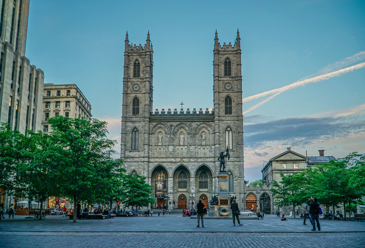 Notre-Dame Basilica at dusk 18-105mm Architecture Basilica Building Exterior Built Structure Church City Historical Building History Monument Notre-Dame Old Church Old Port Old Port Of Montreal/Vieux-Port De Montréal Place Of Worship Sky Sony A6300 Spirituality Tourism Tourist Attraction  Tourist Destination Travel Travel Destination Travel Destinations Travelling