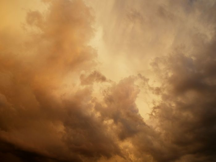 Sunset and the Coming Storm Cloud Orange Orange Color Budapest Hungary Weather Stormy