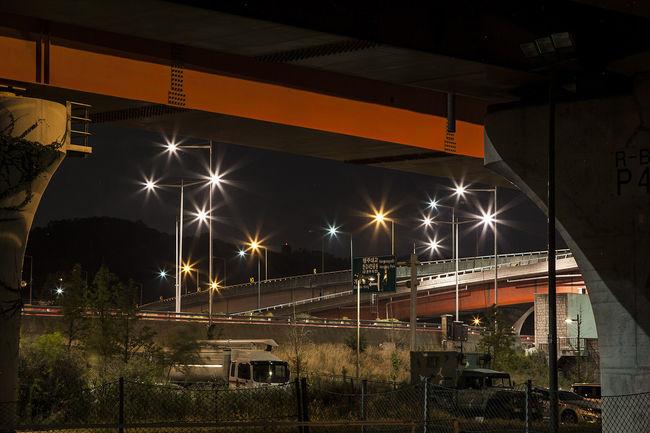 Bangwha Bridge Night View Light Han River Seoul South Korea Korea