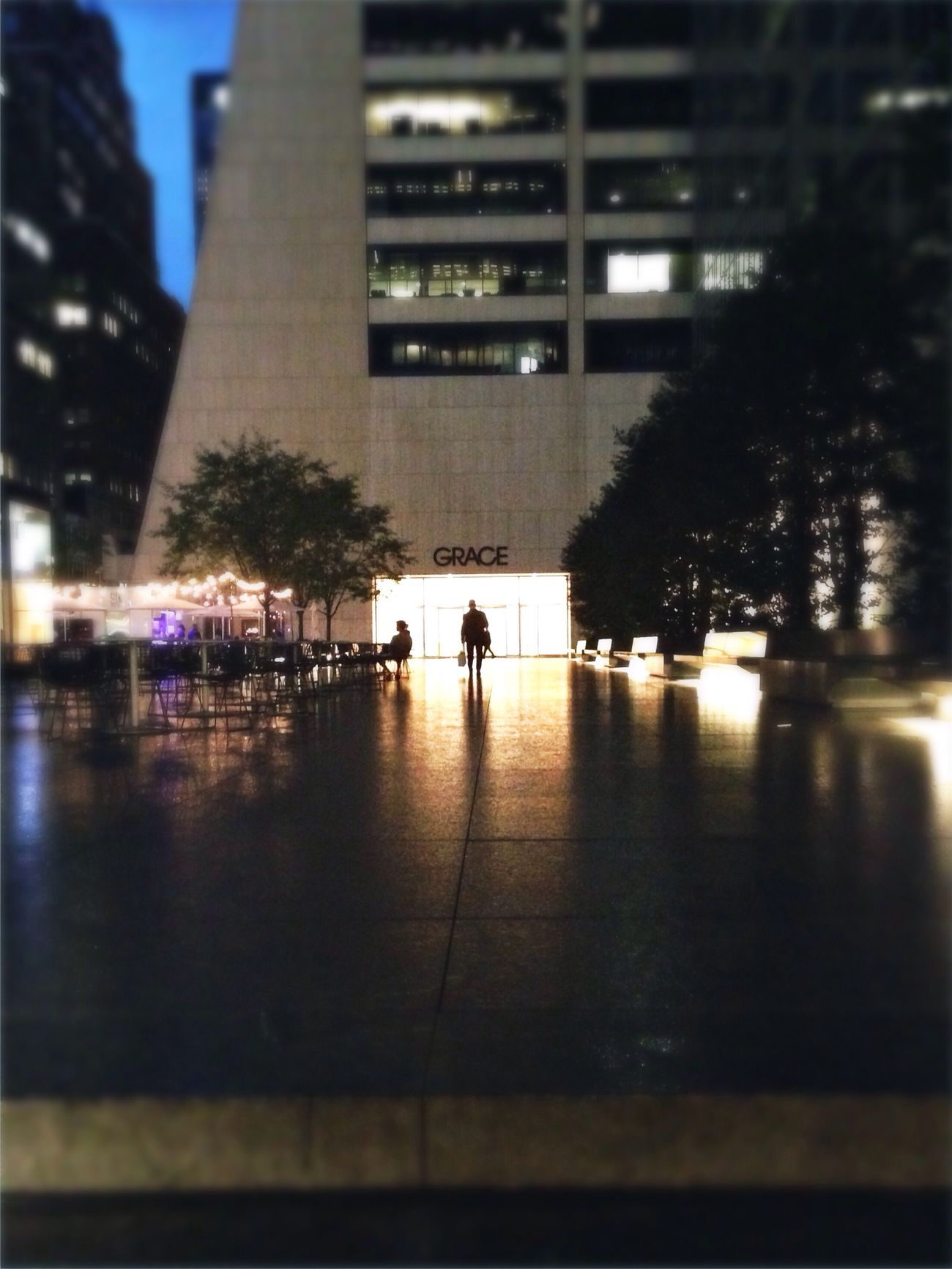 Walking into grace. Grace Building  Shadow Night Photography Hipstamatic Architecture