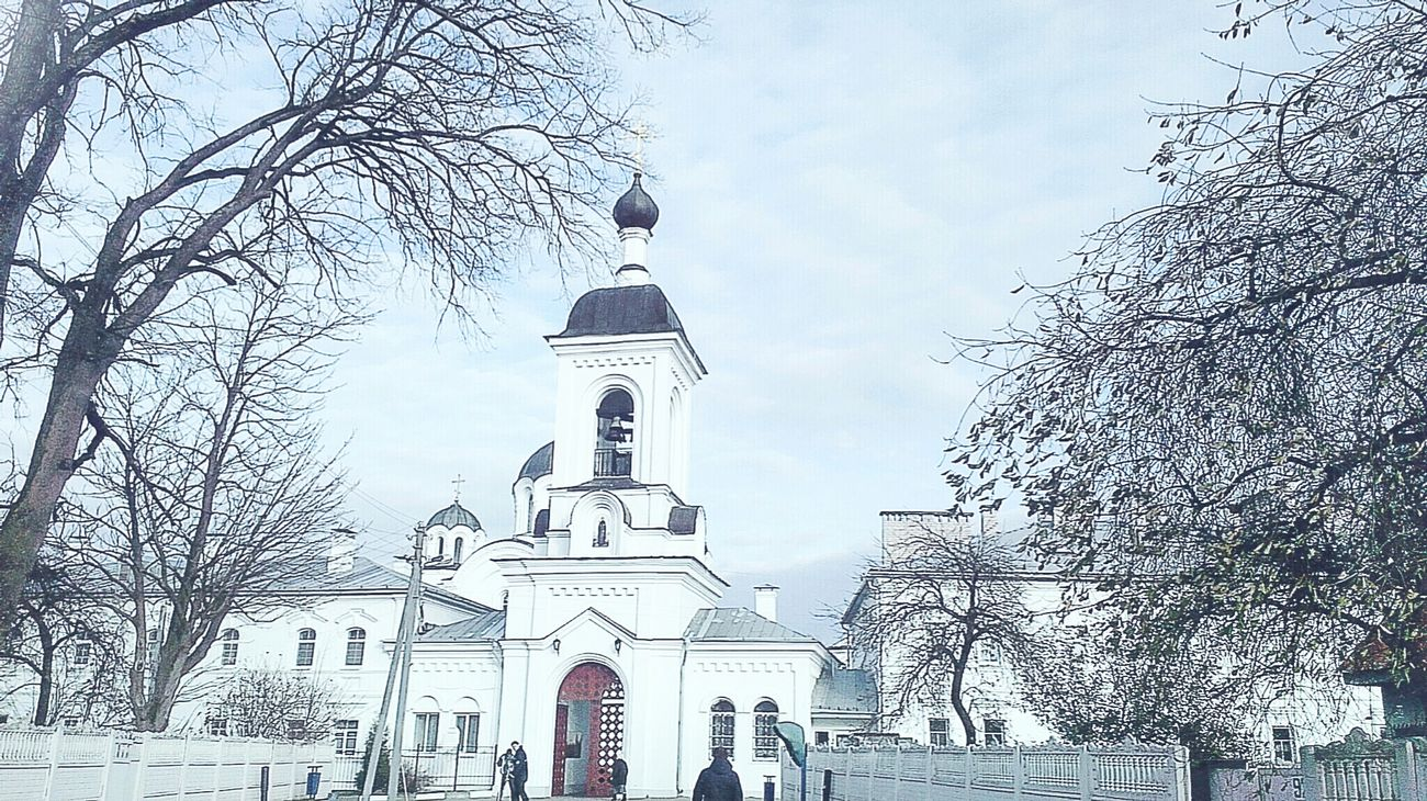 Belarus Winter Clouds And Sky Tree Polotsk