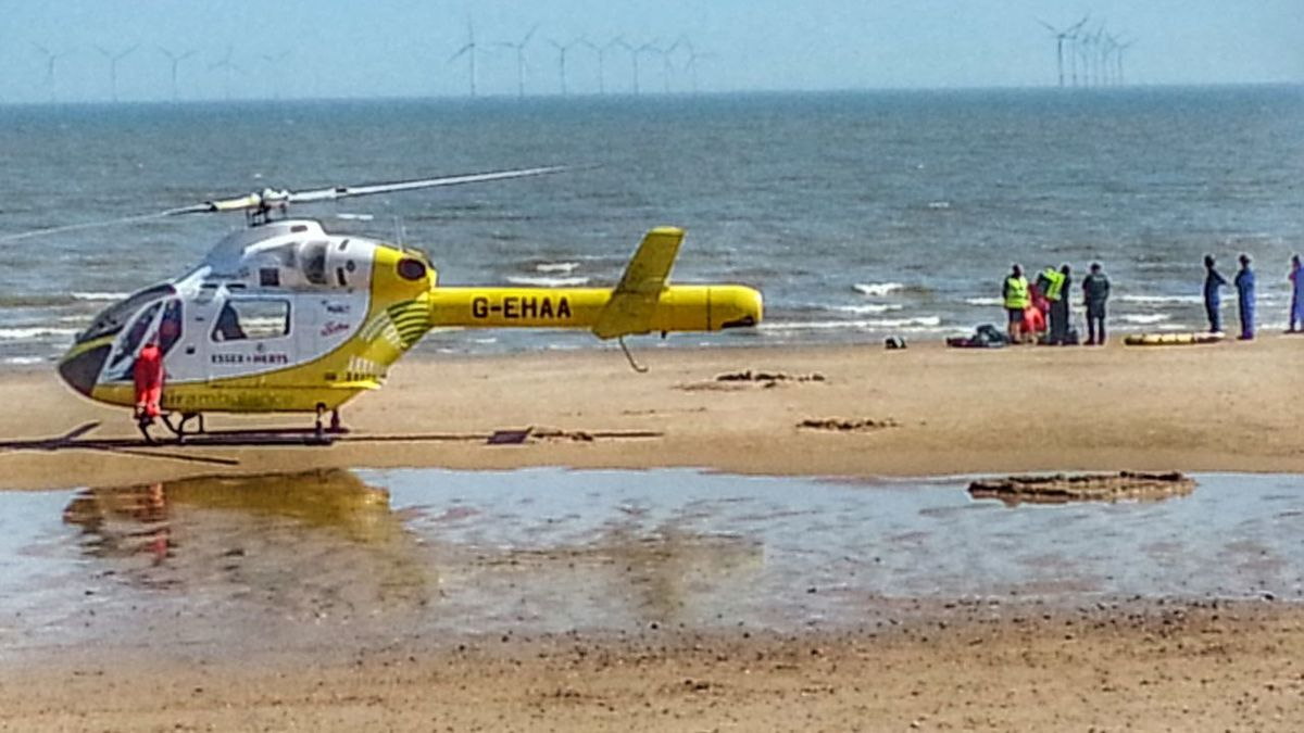 At The Beach Seaside Sea And Sky Helicopter Emergency Reflections Reflection Beach Photography Life Is A Beach Drama Clacton Clacton On Sea Beach Helicopter Emergency Medical Service