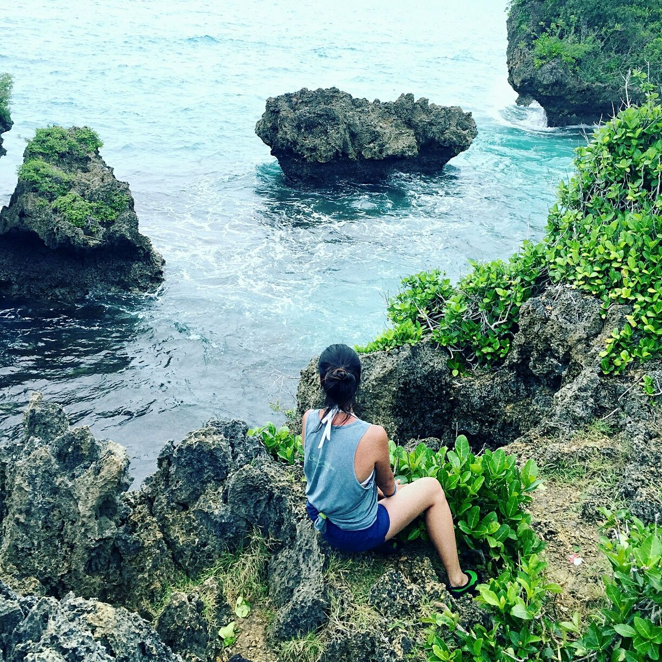 Always on the edge.. Sitting Water One Person Nature Sea Outdoors Beauty In Nature Abrileverywhere Travel Philippines Cliffview Cliffsandsea Landscape EyeEmNewHere Real People Bicol, Philippines Happiness One Young Woman Only Pinas Muna Travel Destinations Summer Nature Eyeem Philippines