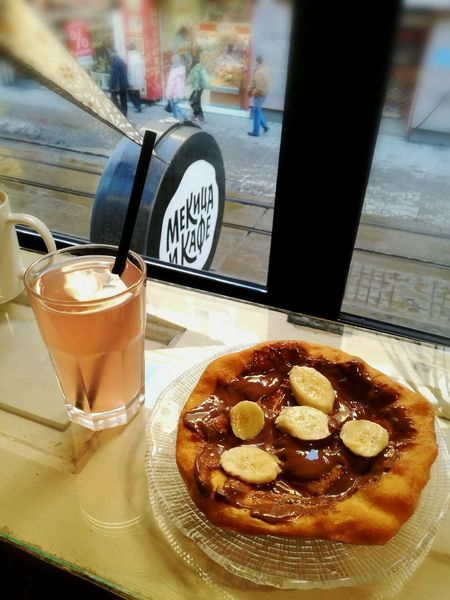 Mekitsa & Kafe Lemonade 🍹 Chocolate♡ Bananas Inlove ♡ Food And Drink Unhealthy Eating Lovelyday💛