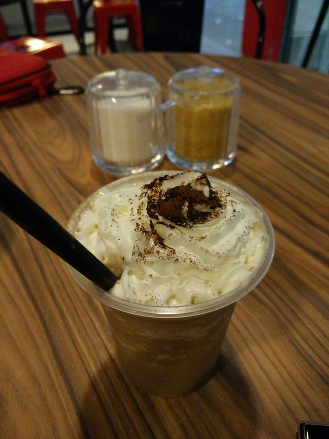 While waiting for the next flight For Drinks Ice Blended Mocha Mobile Photography Macrophotography Taking Photos The Purist (no Edit, No Filter)