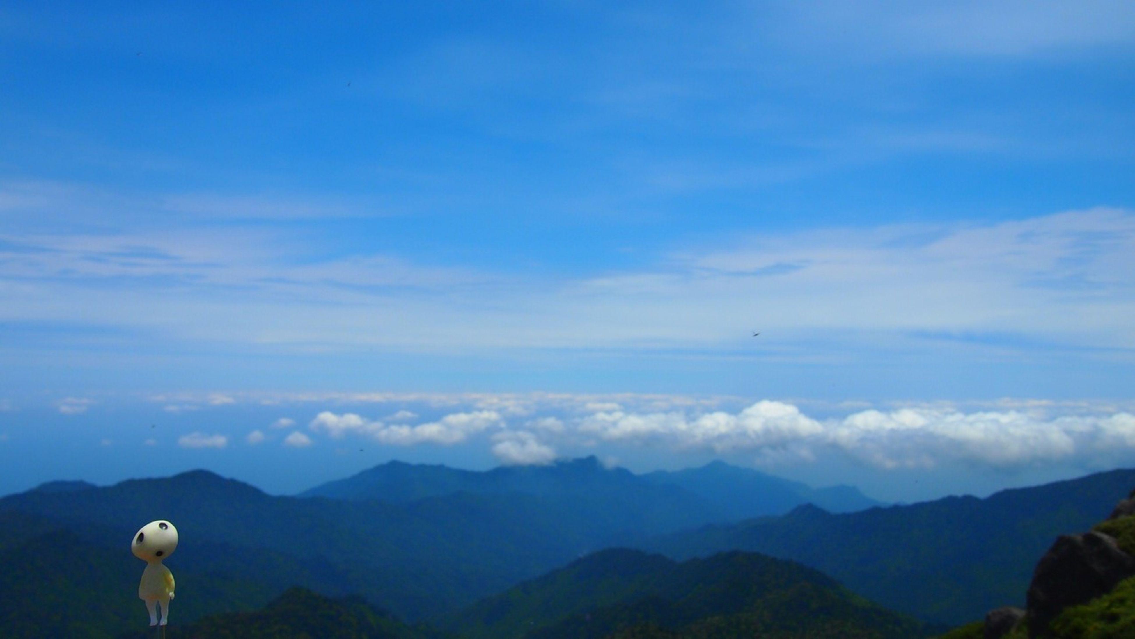 mountain, mountain range, tranquil scene, scenics, tranquility, beauty in nature, sky, landscape, nature, idyllic, blue, cloud - sky, silhouette, cloud, non-urban scene, remote, copy space, outdoors, hill, non urban scene