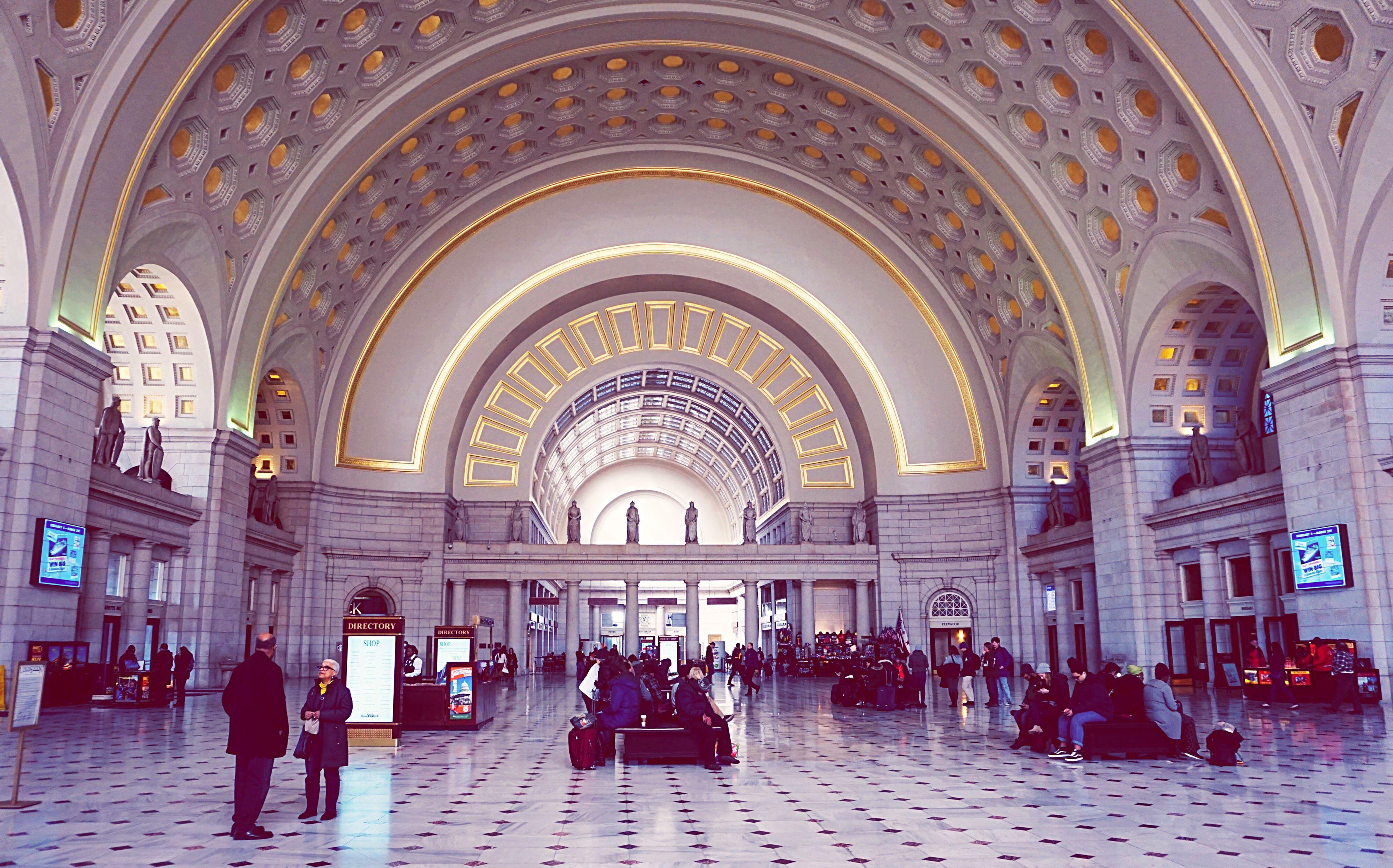 Union Station Travel Destinations Arch Architectural Column Architecture Multi Colored Washington, D. C. Cityscape Archiectural Details