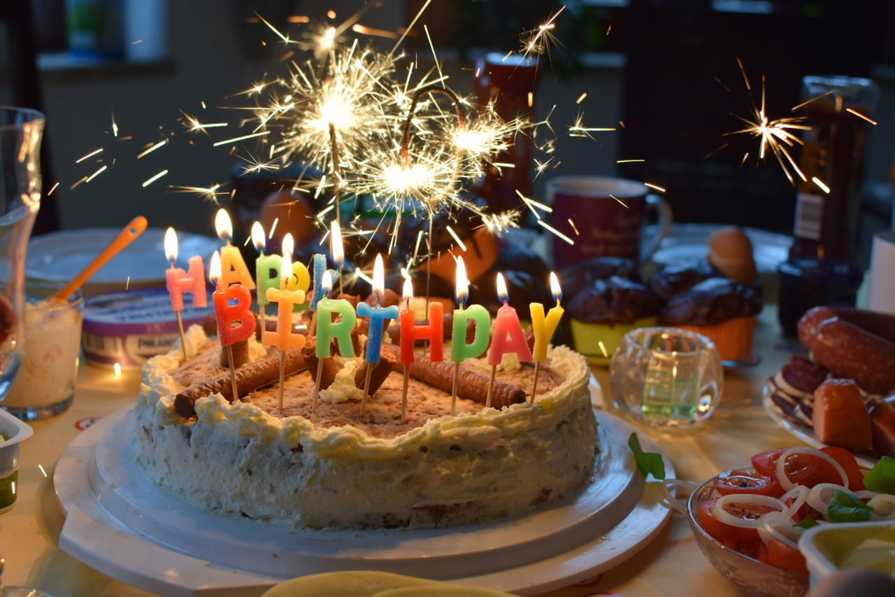 Beautiful stock photos of party, Birthday Cake, Birthday Candles, Blurred Motion, Cake