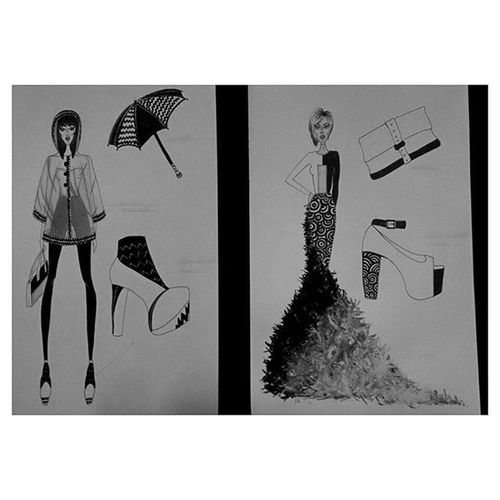 Fashionillustrator Haydenwilliam OpticalArt Jeffreycampbell Pochette  Biancoenero Progettazione Ispiration Abitodasera Tailleur ✒✏⚫⚪
