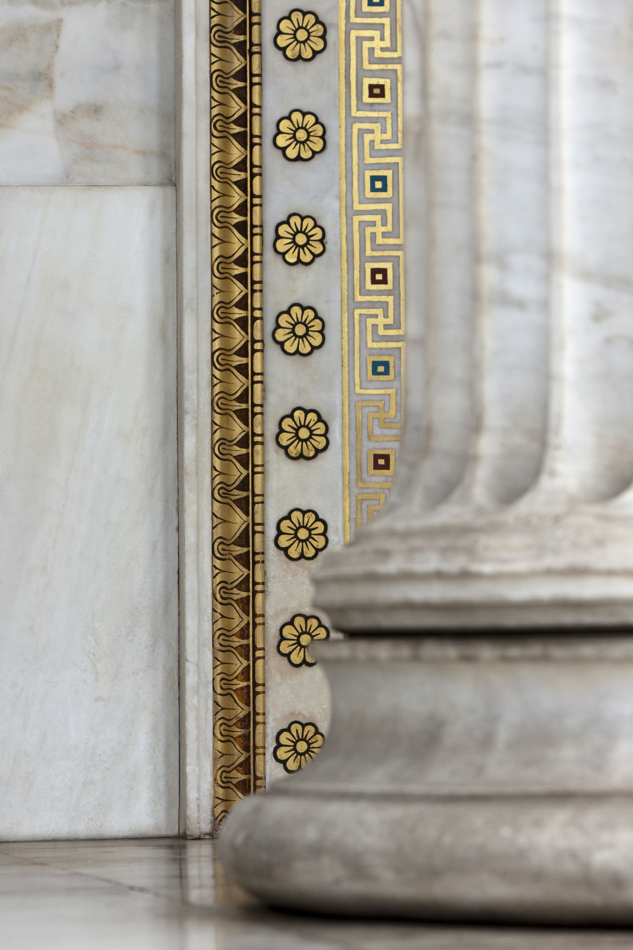 Academy Of Athens Architecture Art Art And Craft Athens Base Column Creativity Design Full Frame Golden Hour Greece Green Ionic Order Neoclassical Neoclassical Architecture NeoClassicism Old-fashioned Ornate Pattern Theophil Hansen Wall