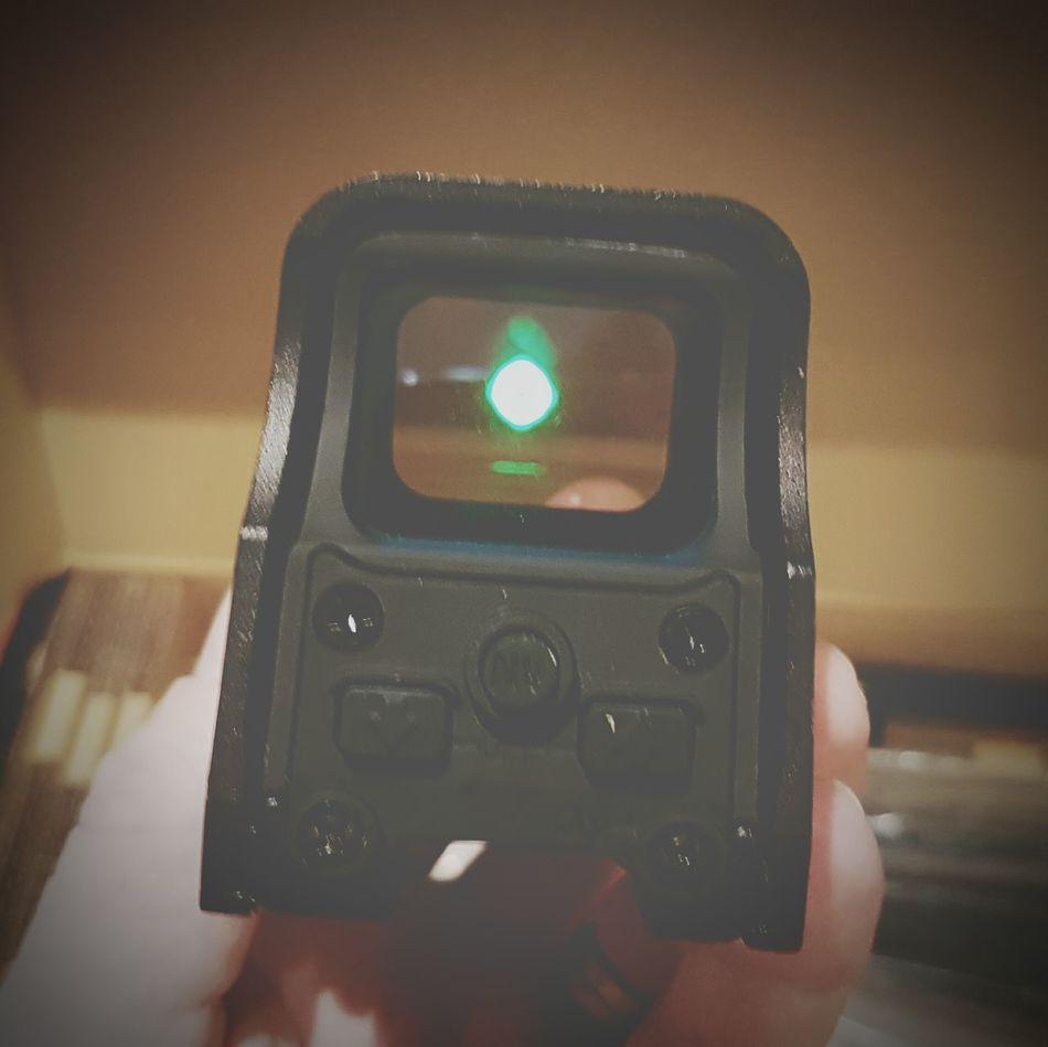 Technology Human Hand Human Body Part Device Screen Hologram Sights Dot Sight Weapon Optics Optics My Hand  Holding My View Tactical Green Dot Sights