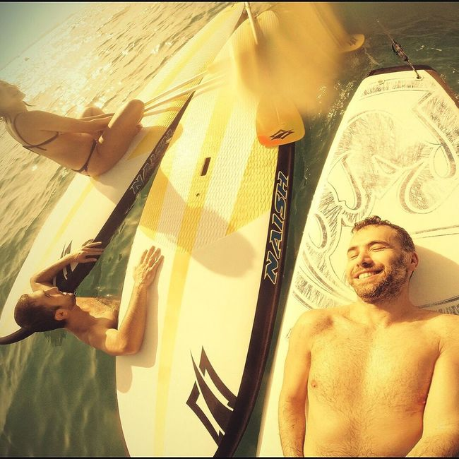 Beach Sup Winter Friends Gopro Dubai UAE
