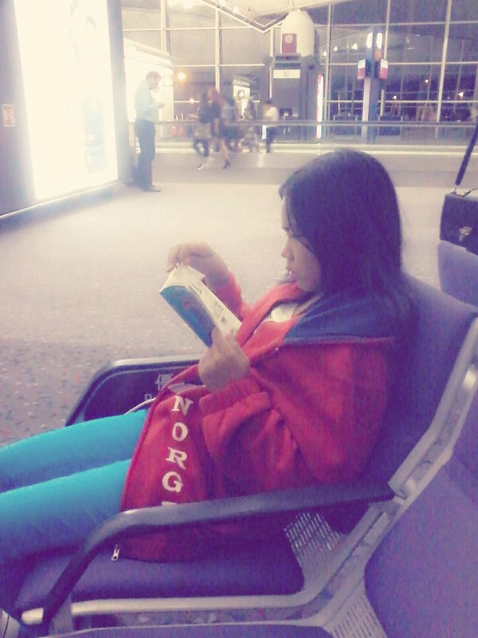 Just reading & taking a photo..