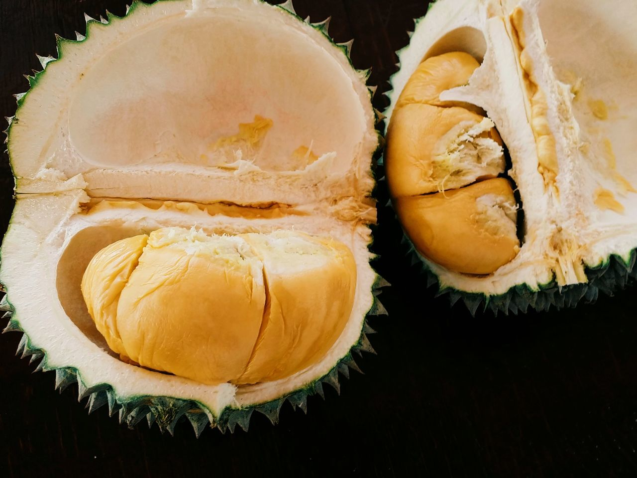 Beautiful stock photos of black background, Black Background, Close-Up, Durian, Food