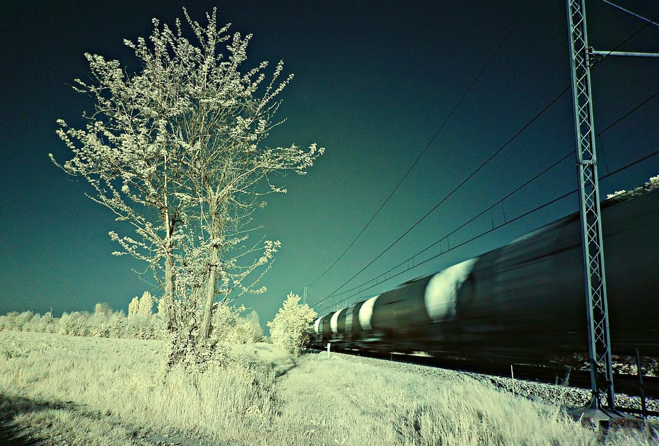 Train Taking Photos Railway Infrared Infrared Photography Ir 72 Waiting For The Train