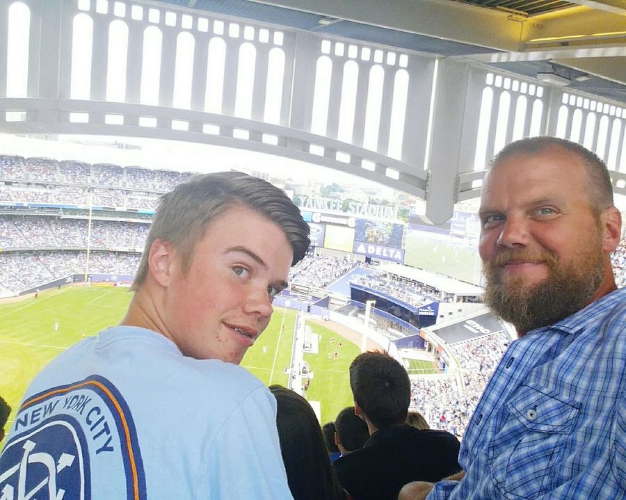 Very happy to spend the day in NYC with my son and ejoy a match together finally after a 10 month season of him playing ad myself coaching. A nice change to sit together during a match. Proudpapa Soccer NYCFC NYC DERBY NYRB Yankee Stadium Summertime