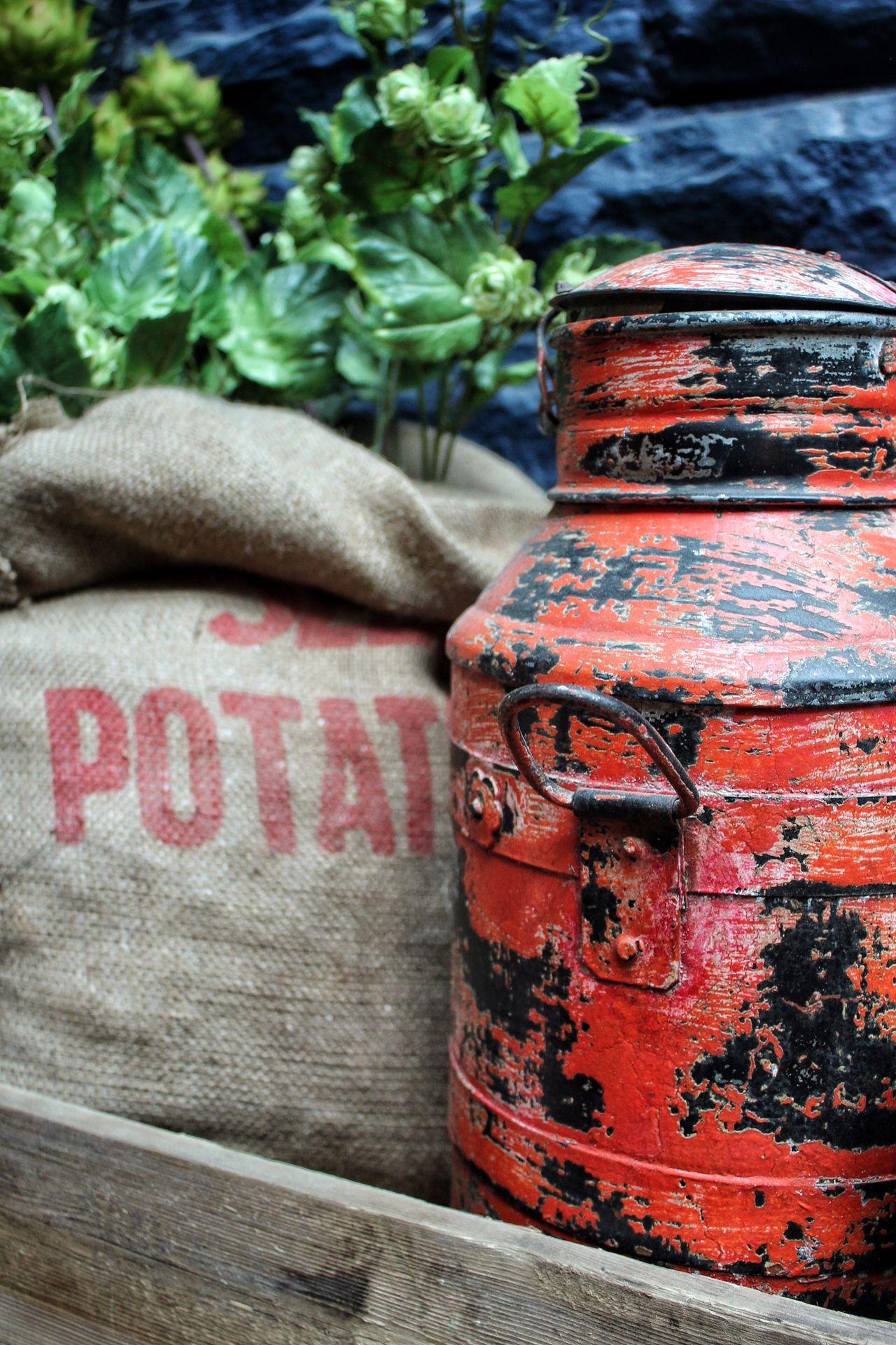 Still Life StillLifePhotography Stillife Colors Colorful Colourful Colours Red Purple Sack Potatoes Milk Milk Churn Wall Hessian Bradford Decoration Decor Fresh On Eyeem
