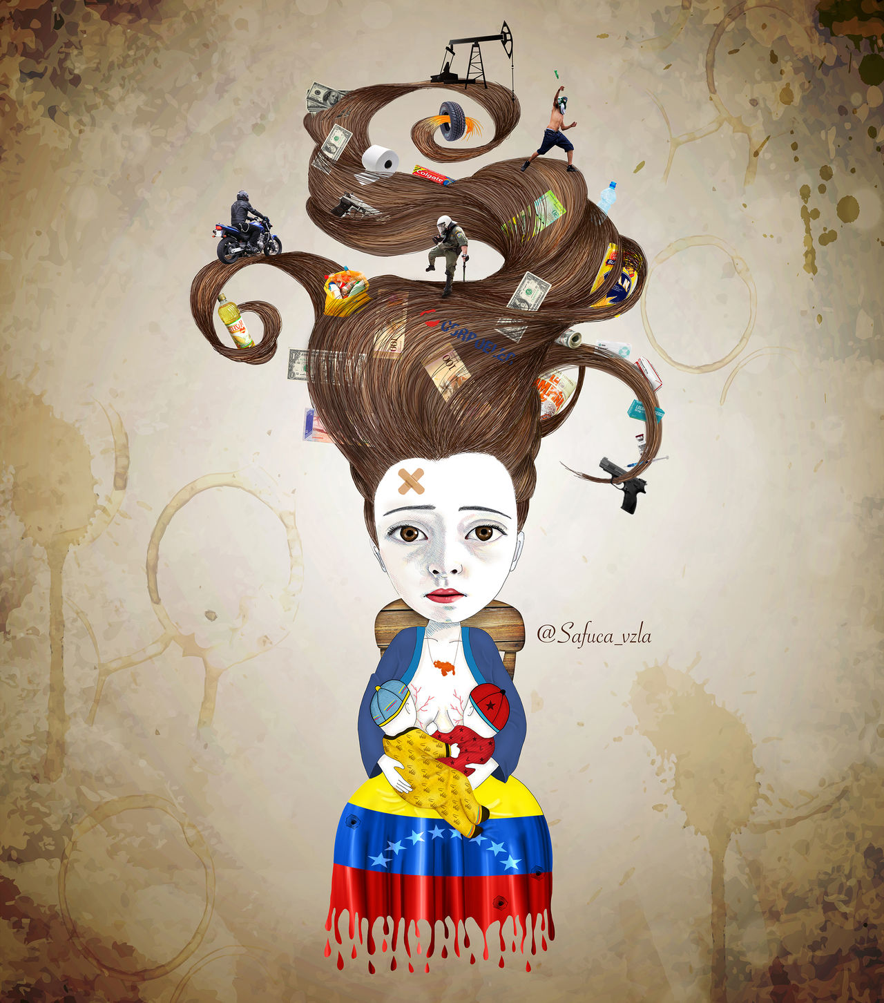 Venezuela Safuca Ilustration Crisis Archival