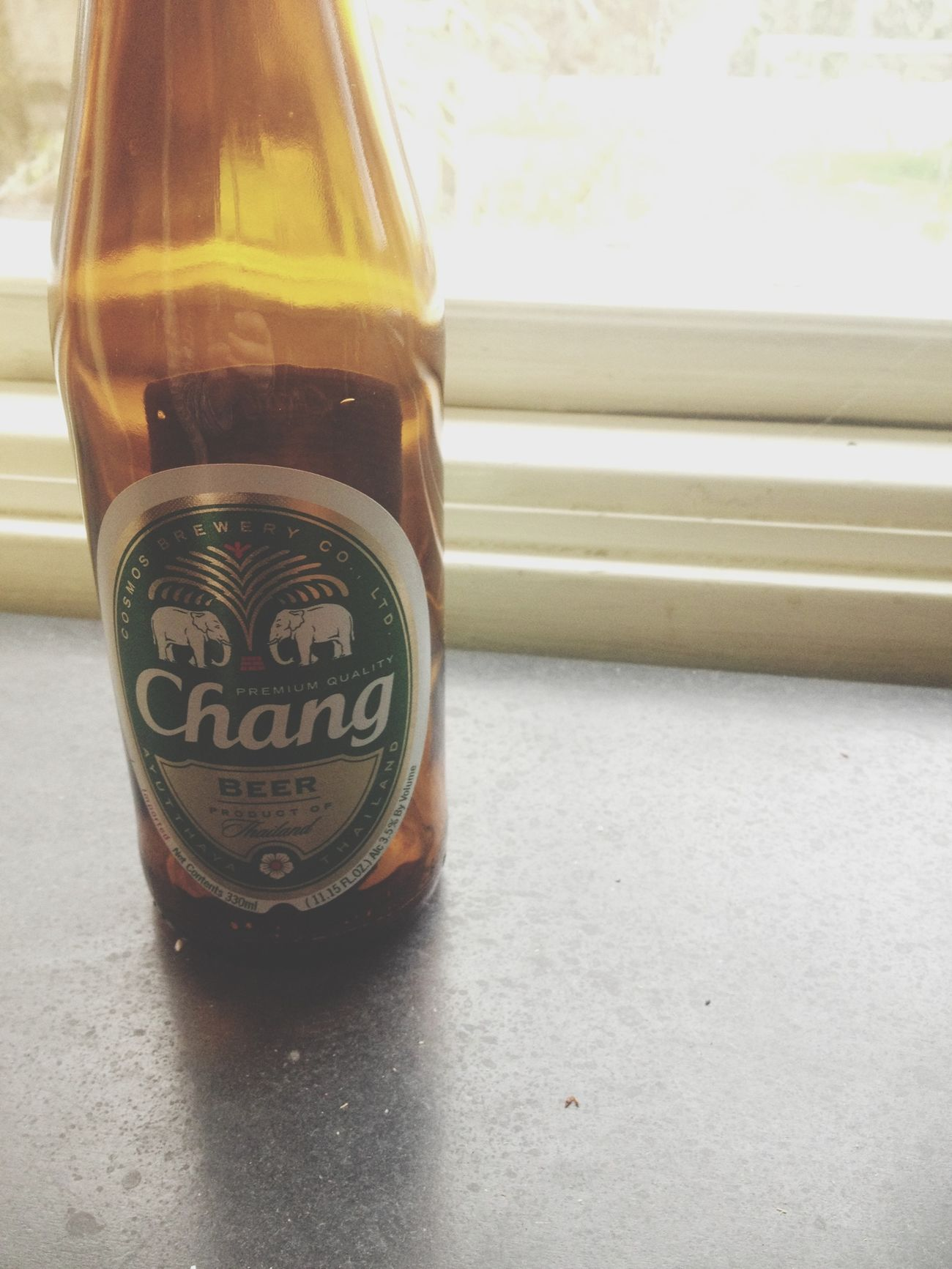 18th bday today. celebrated by buying chang beer