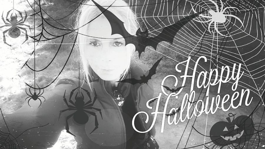Hello World To All Out There Holiday Season Enjoy Pleasure Fun Togheterness Halloween Spiderweb Funny Pics Lol...