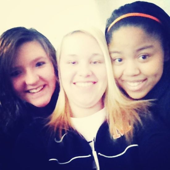 Hanging with my babies. ! Love those girls. !