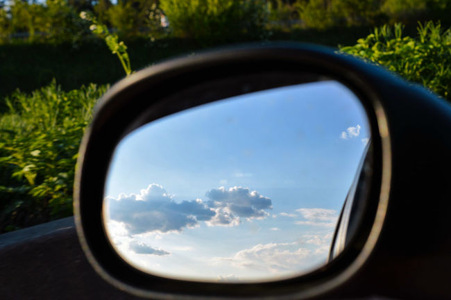 What to do if there's a traffic jam... Mirror Mirrored Mirror Picture Reflection Reflections Reflection_collection Car By Car Traffic Jam Sky Sky And Clouds Sky_collection Clouds And Sky Cloud - Sky Clouds Close-up Close Up On The Road Beauty In Nature Occasional Photography The Great Outdoors - 2016 EyeEm Awards Nikon Germany Naturelovers Skylover