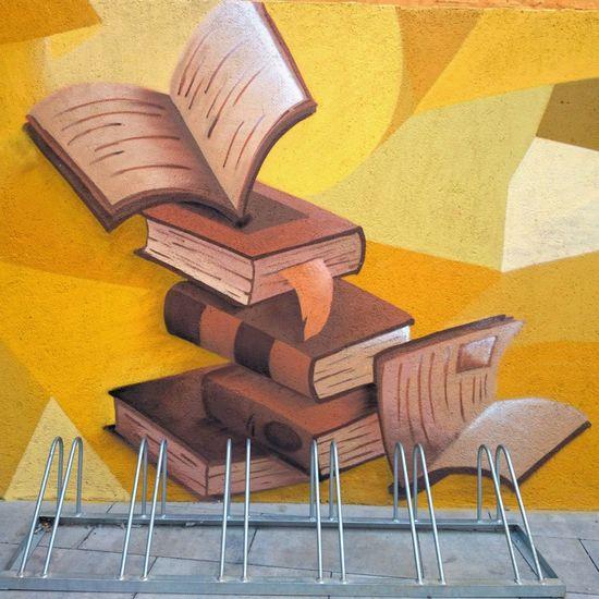Books Art Graffiti Street Under Pressure