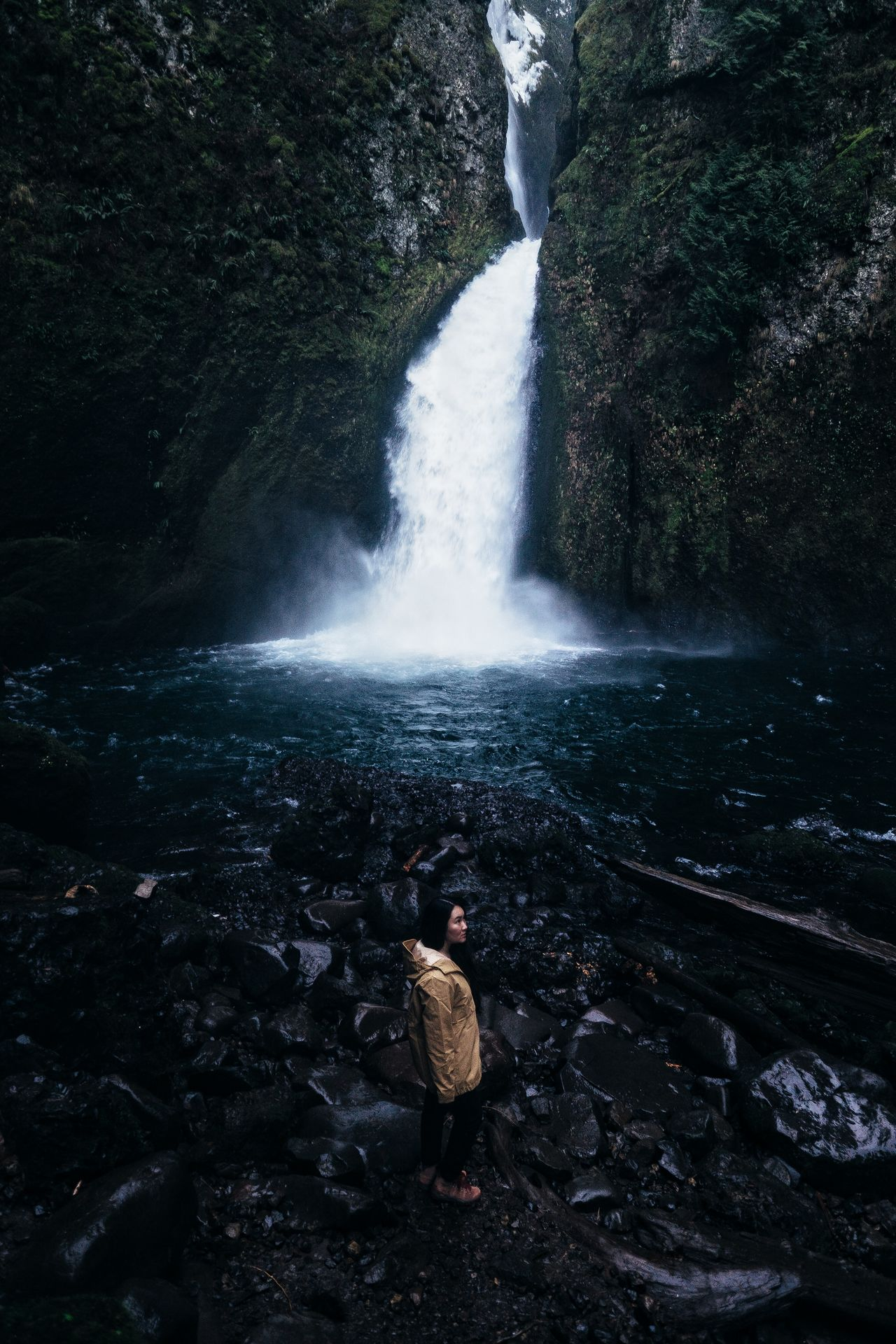 Rains Journal Water Beauty In Nature Outdoors Nature Motion Waterfall Splashing Scenics Tranquil Scene Adventure Winter Cold Temperature Tourism PNW Travel Destinations EyeEm Best Shots One Person Landscape Oregon Wild Vista Solitude Finding New Frontiers Miles Away