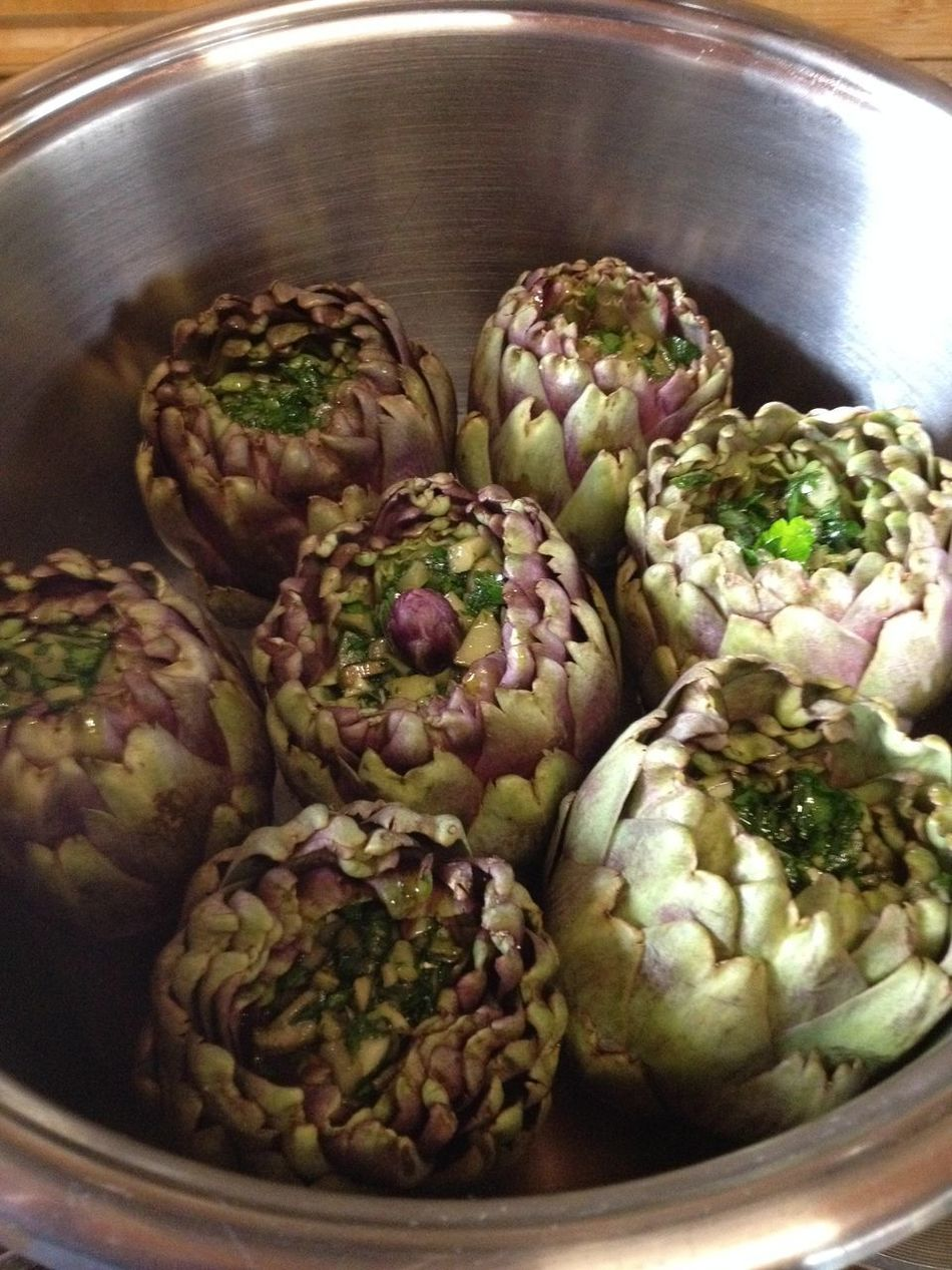 Biagio Costagliola Artichoke Bowl Close-up Container Day Food Food And Drink Freshness Healthy Eating High Angle View Indoors  No People Still Life Vegetable