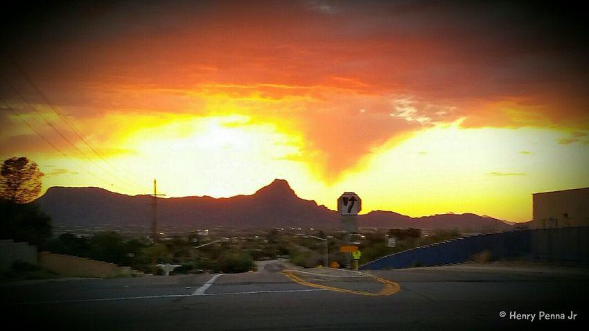 EyeEm Best Shots - Sunsets + Sunrise Sunset Silhouettes Tucson Arizona  Samsung Galaxy S5 Sunset
