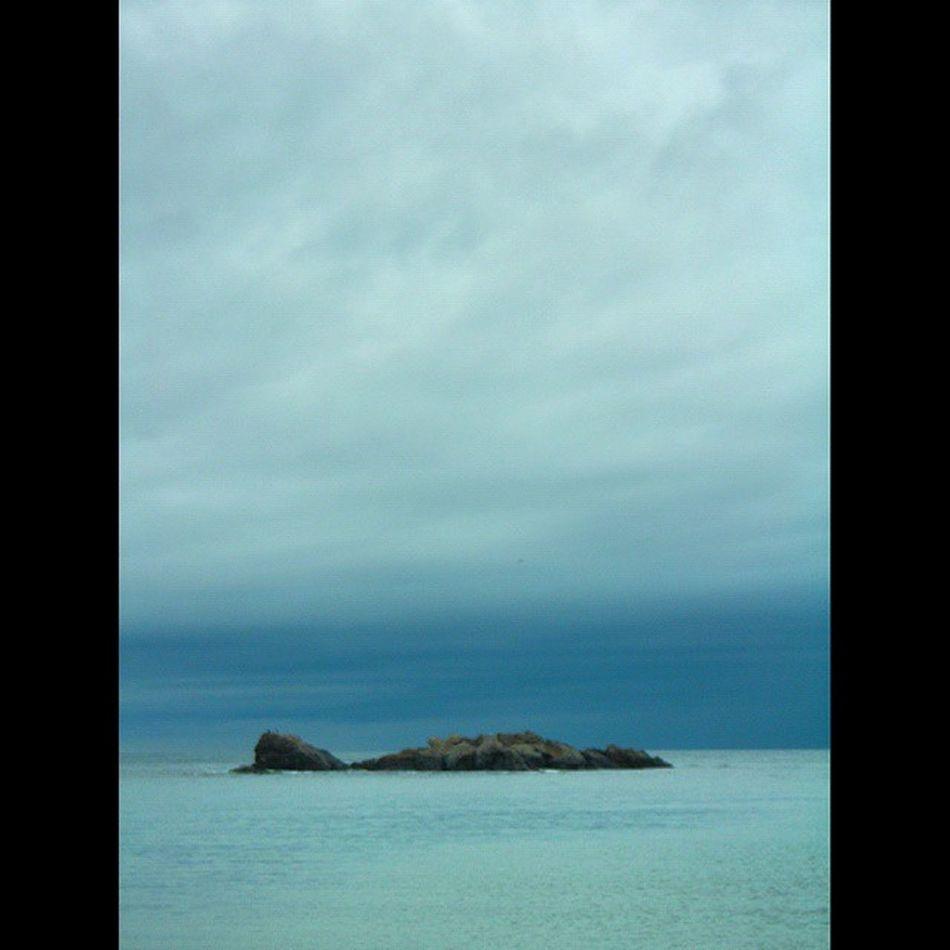"""And every man is an island, an island, in his own special way."" Nashville Noahgundersen Kastro Kiyikoy kirklareli Kırklareli Silhouette Travel Photography Turkey Seascape Sea And Sky"