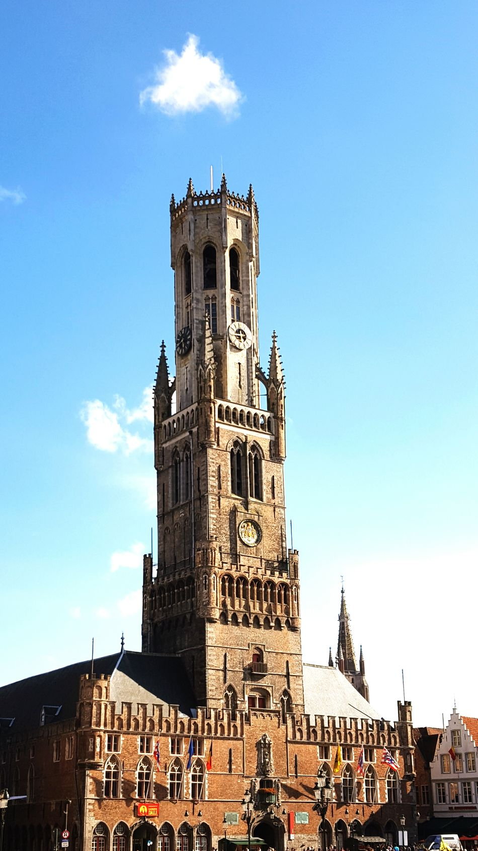 Travel Destinations Large Group Of People History Tower Outdoors Clear Sky Tourism Sky Archival Leisure Activity Place Of Worship Day People Architecture Travel Destination Old Town Cityscape Brugge Bruges Flanders Flandres  Built Structure City Building Exterior Architecture