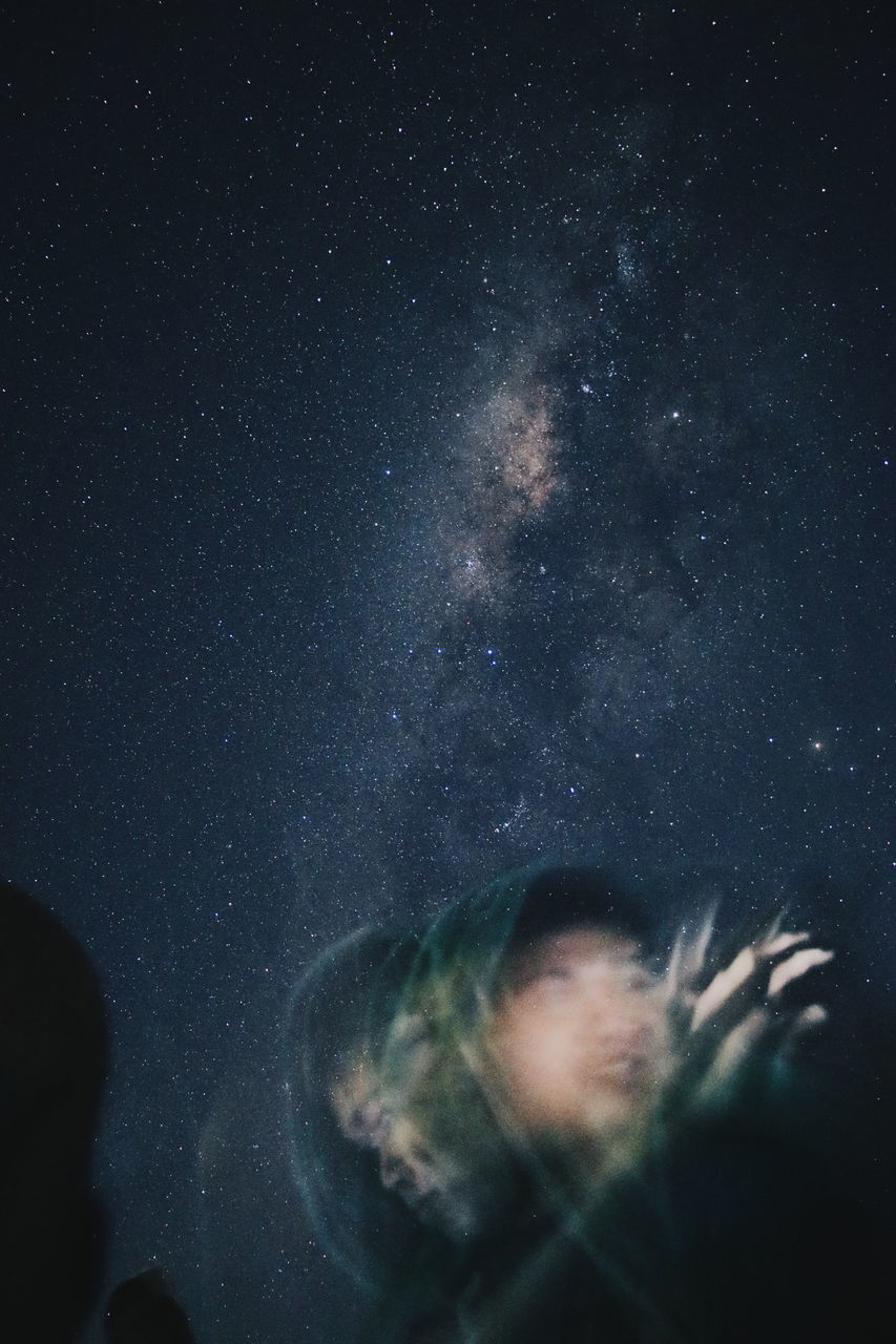 night, nature, sky, astronomy, beauty in nature, star - space, galaxy, low angle view, outdoors, no people, scenics, close-up