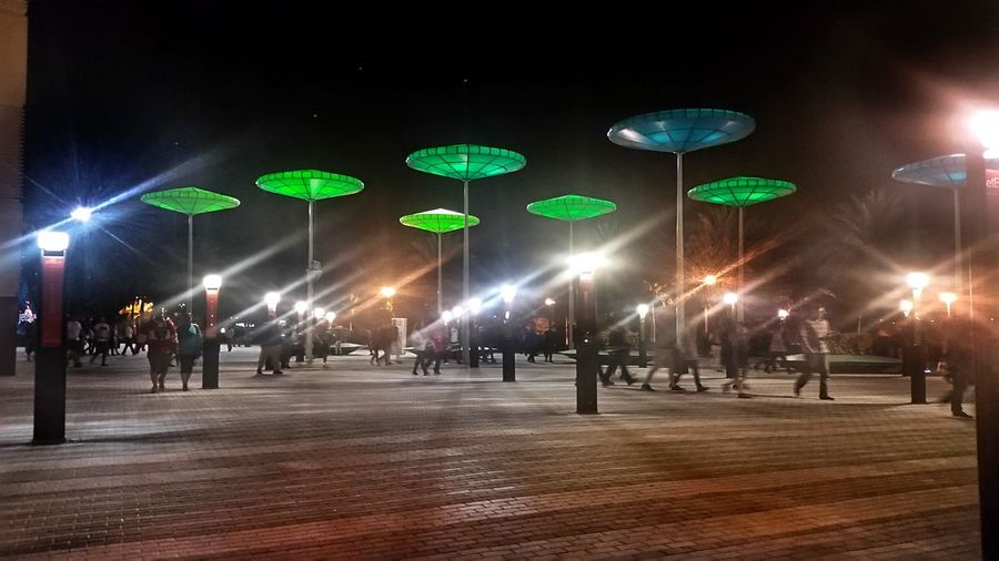 Illuminated Lighting Equipment Large Group Of People People Winter City Life City Technology Green Color Men Adult Night Only Men Crowd Adults Only Outdoors PanthersGameDay Welcome To Black