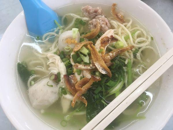 Fish Ball Noodle Soup Street Food Malaysia Chopsticks Bowl Local Food Culture
