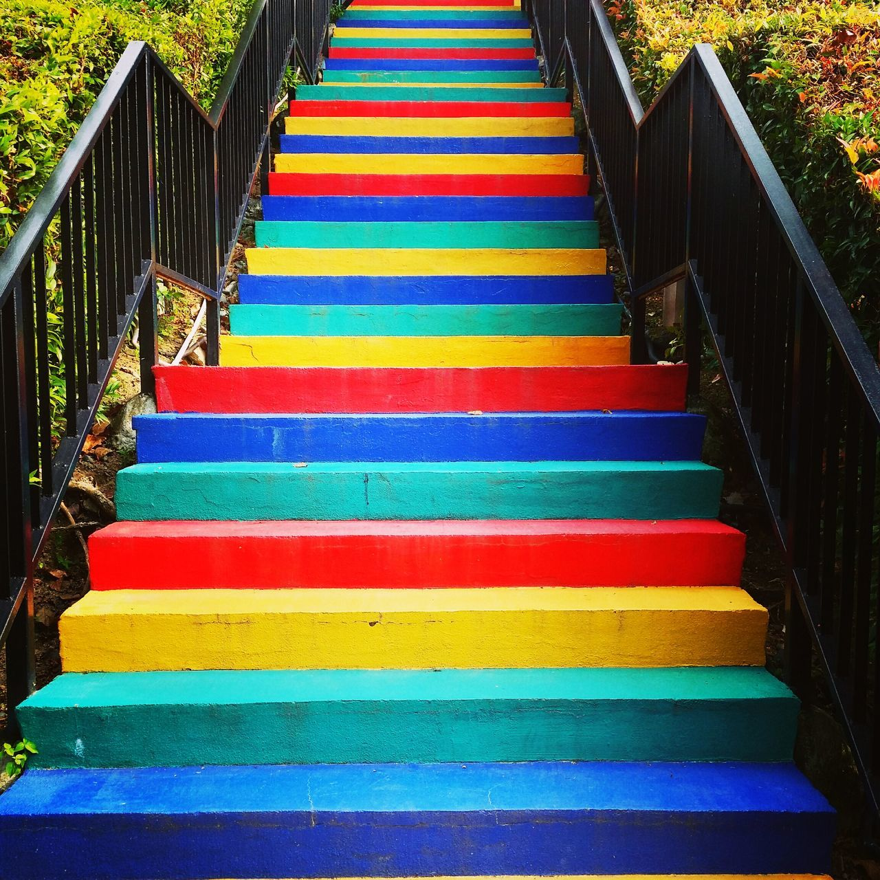 Multi Colored Steps Staircase Sentosa Singapore Travel Destinations Wonderful_places Travelgirl
