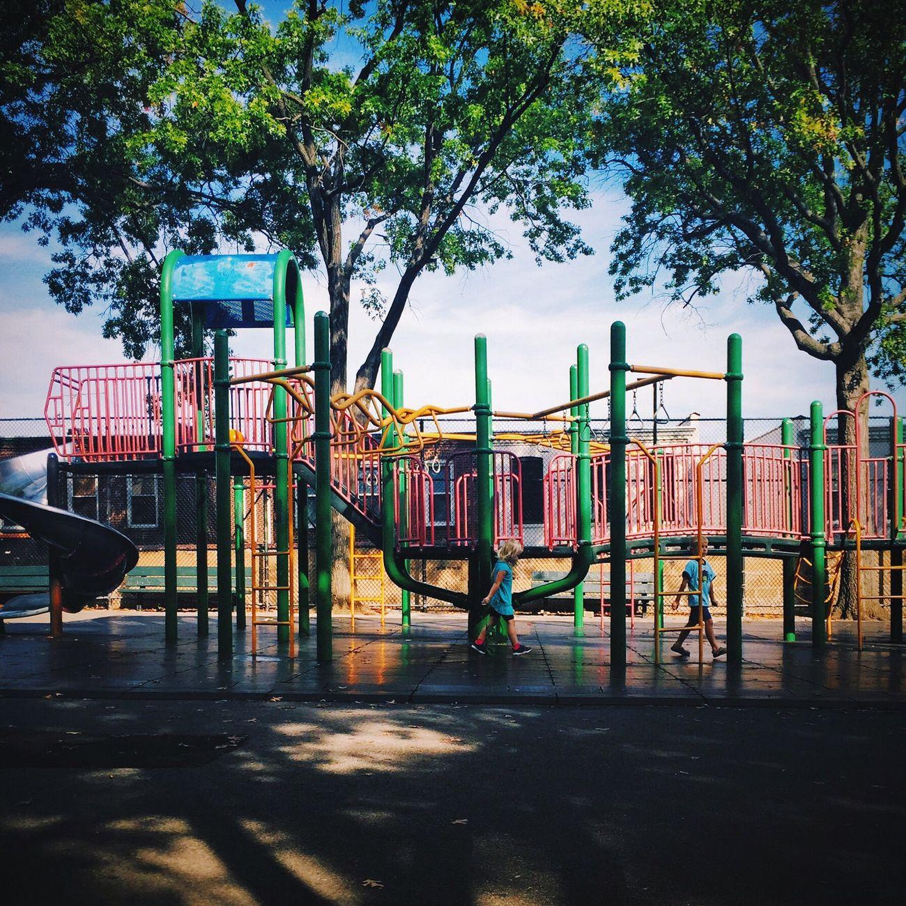 Sunday Playground Kids Playing