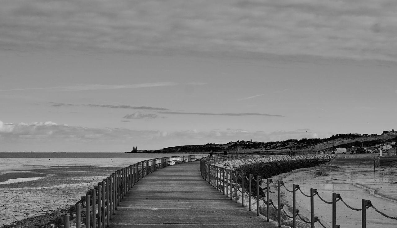 Blackandwhite Boardwalk Herne Bay Outdoors Pier Reculver Scenics Sky Walkway Water