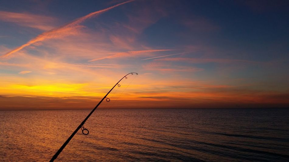 Water Sunset Sea Outdoors Horizon Over Water Dramatic Sky No People Vertical Nature Sky Beauty In Nature Gone Fishing Baltic Sea