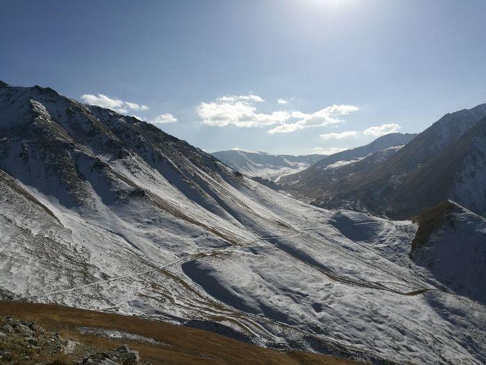EyeEm Selects Mountain Snow Nature Cold Temperature Beauty In Nature Landscape No People Mountain Range Kazakhstan🇰🇿 Almaty1love Almaty, Kazakhstan