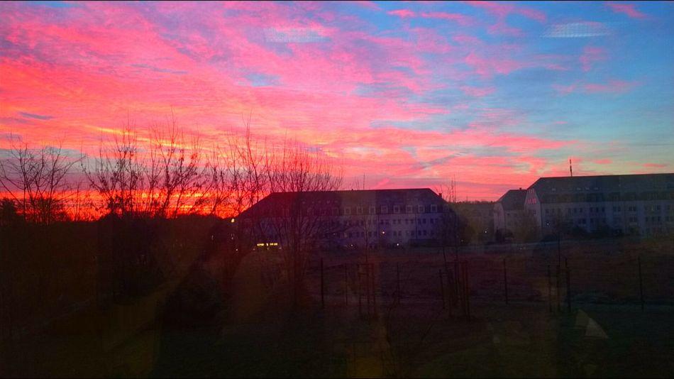Sunrise Sky Red