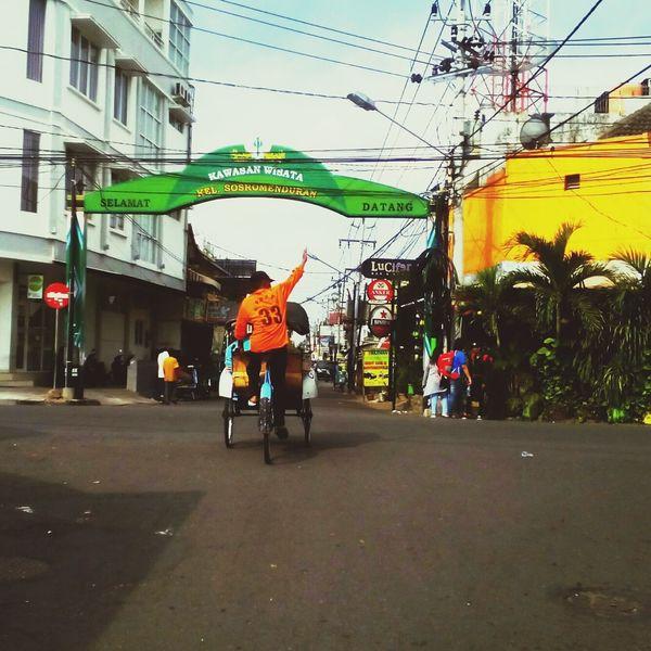 Street Outdoors Jogja Jogjakarta Sosrowijayan Becak