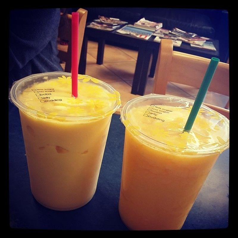 Mango smoothie & passionfruit icy Bobateahouse Northridge  Yummy Cheatoftheday Studydate GroupProject Korean
