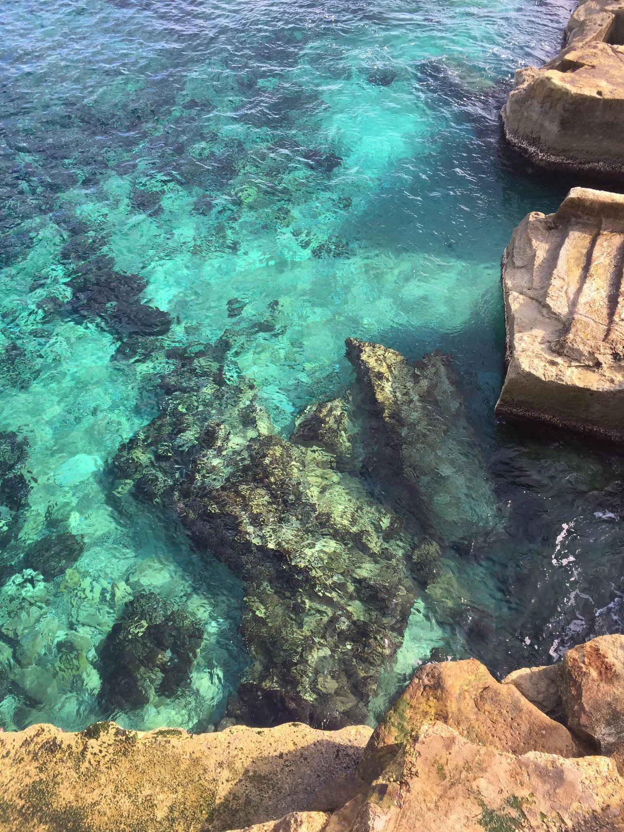 Malta Crystal Clear Waters Rocks Island Life