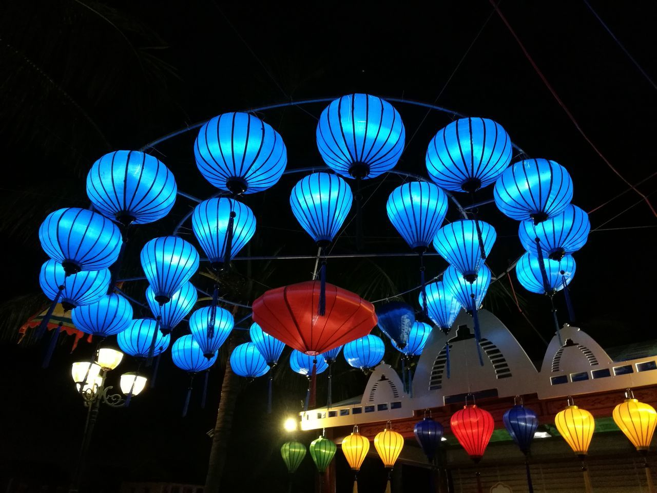 Hoi An lanterns. Lanterns In The Dark Hoi An Illuminated Hanging Lighting Equipment Celebration Low Angle View No People Outdoors Chinese Lantern Festival Night