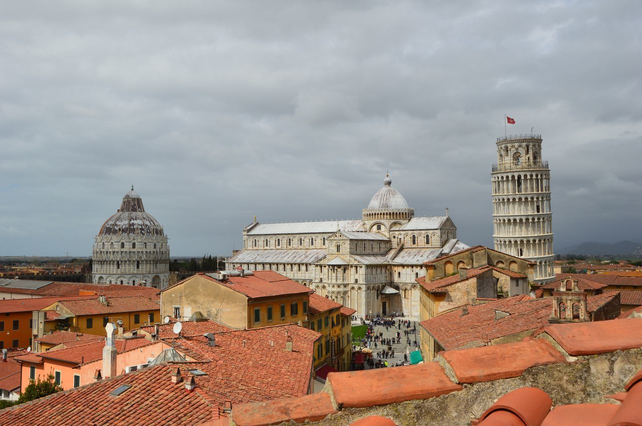 Above The Roofs Architecture Culture International Landmark Old Buildings Pisa Tower Residential District Tower