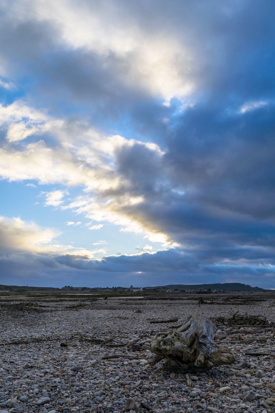 Scotland Sunset Moray Spey Bay Stones