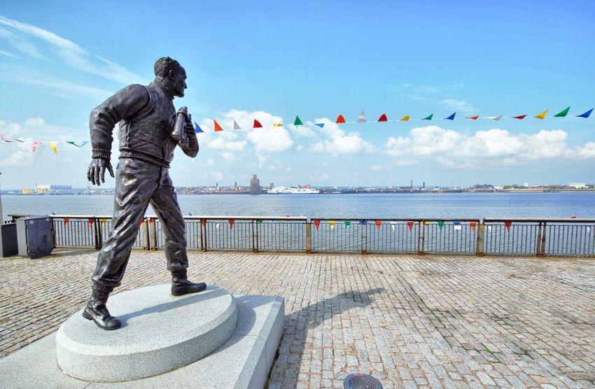 Pier Head Merseyside Maritime Museum Maritime Merseyside Mersey Ferry Seaman Albert Dock Liverpool, England Liverpool Pier Head Liverpool Bronze Statue Statue Albert Docks